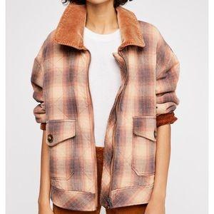 FP Slouchy Plaid/Corduroy Jacket